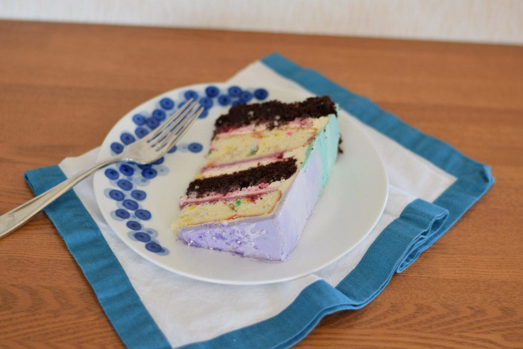 purple pastel birthday cake | confections of a dietitian