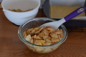 salted caramel apple pie bars | confections of a dietitian