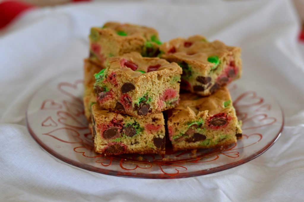m&m cookie bars | confections of a dietitian