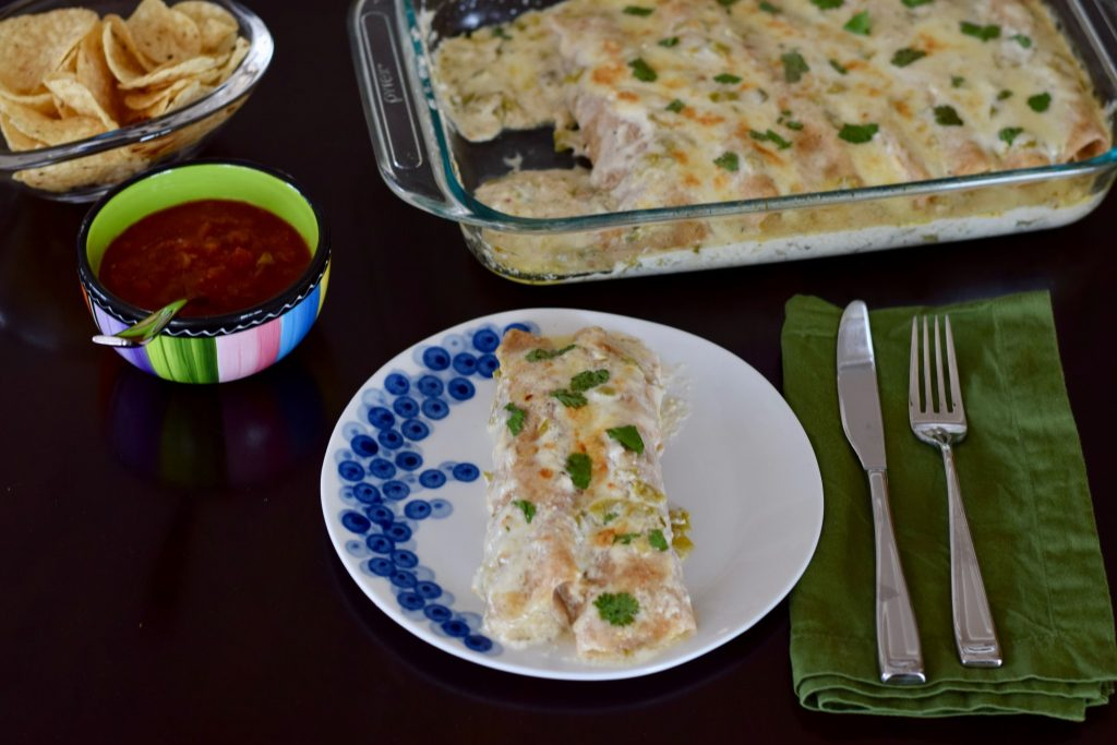 white chicken enchiladas | confections of a dietitian