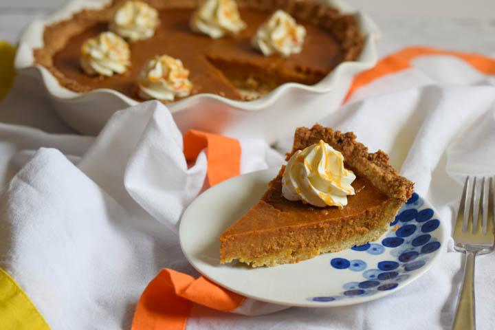 caramel pumpkin pie | confections of a dietitian