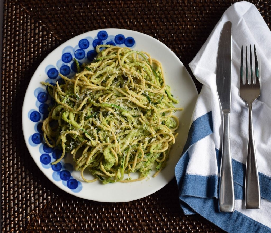 zucchini broccoli pesto | confections of a dietitian