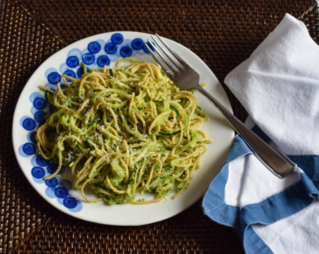 zucchini broccoli pesto | confections of a dietitian